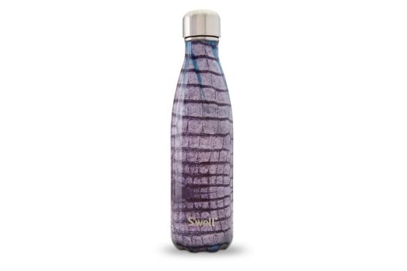 S'well aubergine alligator bottle, $35.swellbottle.com.