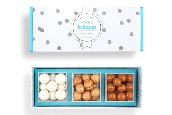 Sugarfina happy holidays giftset, $25.sugarfina.com