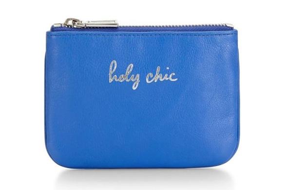 Rebecca Minkoff holy chic cory pouch, $50.rebeccaminkoff.com.
