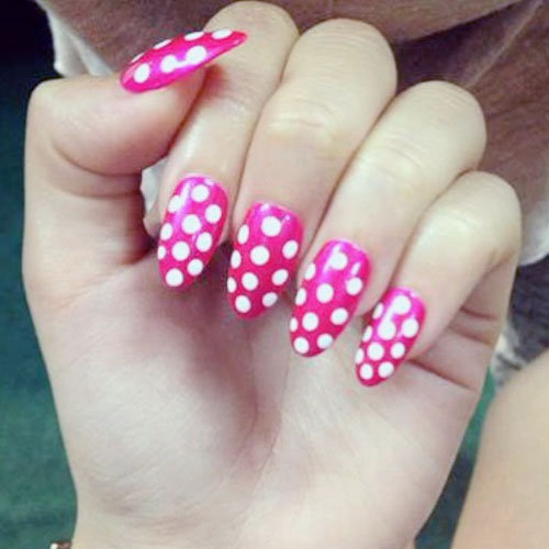 BECKY G POLKA DOTS nails