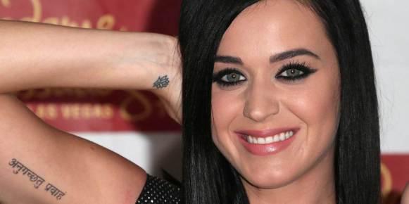 Katy Perry arm tattoo