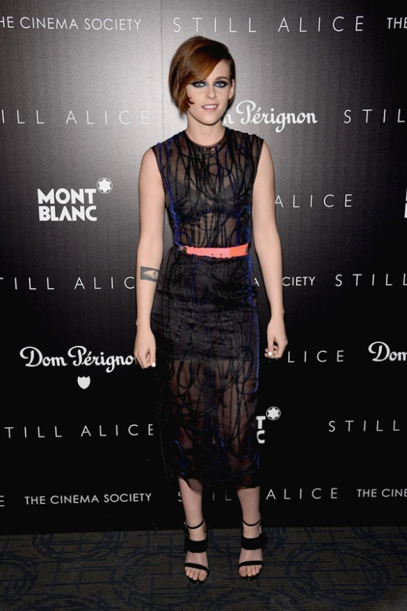 Kristen Stewart attends The Cinema Society with Montblanc and Dom Perignon screening of Sony Pictures Classics' 'Still Alice' at Landmark's Sunshine Cinema on January 13, 2015 in New York City. Photo by Dimitrios Kambouris/Entertainment/Getty Images