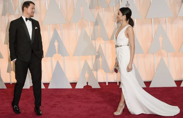 2015 oscars academy awards cutest couples Channing Tatum and Jenna Dewan-Tatum by Jason Merritt