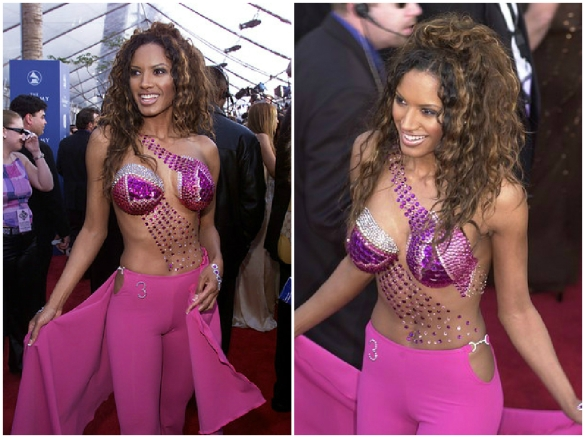 Actress Traci Bingham at the 43rd Grammy Awards