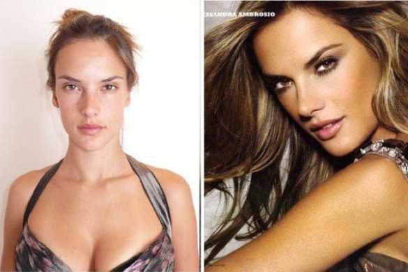 Alessandra Ambrosio victorias secret vs angels models without makeup photos