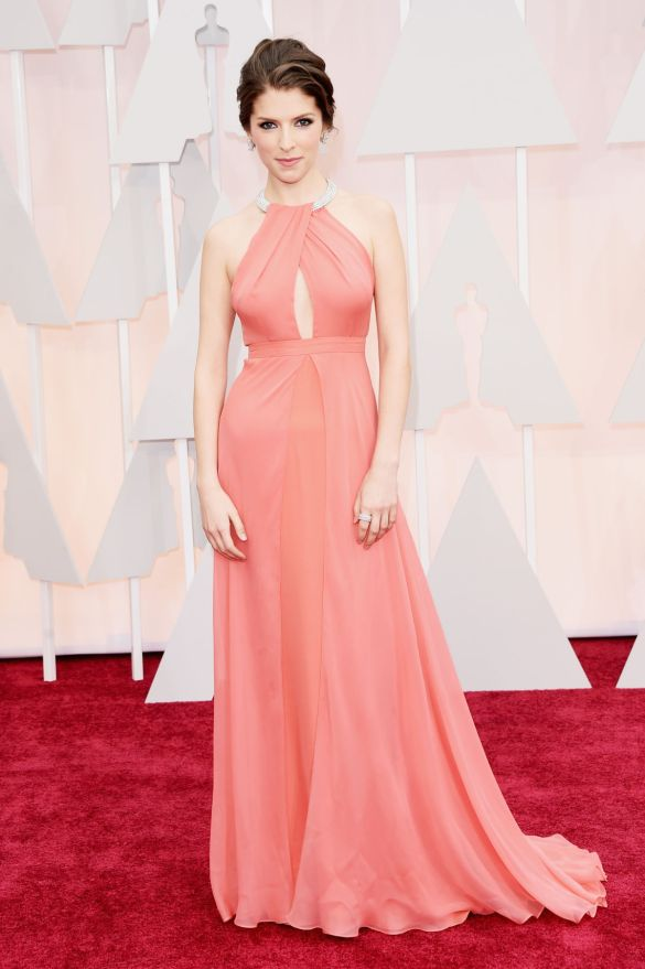 Anna Kendrick in Thakoon 2015 Oscars academy awards red carpet