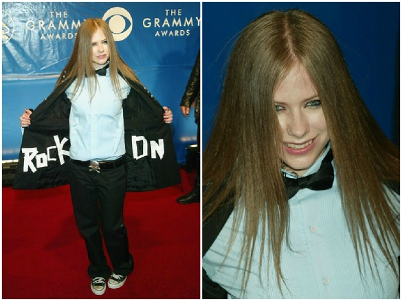 avril lavigne tomboy outfit at 45th grammy awards