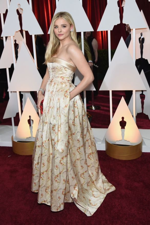 Chloe Grace Moretz in Miu Miu 2015 Oscars academy awards red carpet