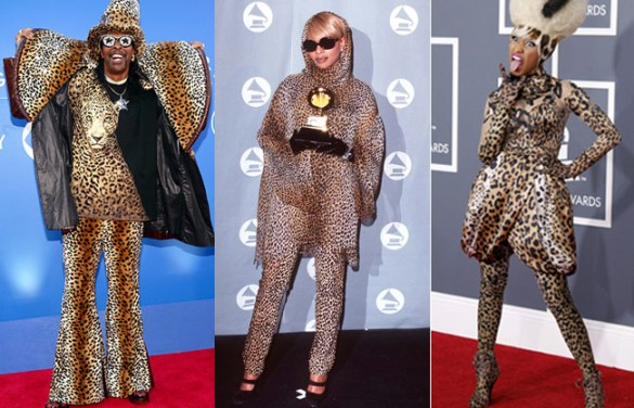 leopard print outfits at grammy awards