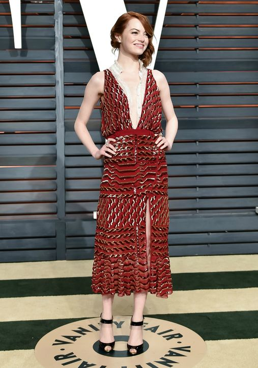 Emma Stone in Altuzarra 2015 Oscars academy awards red carpet