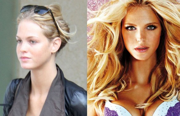 Erin Heatherton victorias secret vs angels models without makeup photos