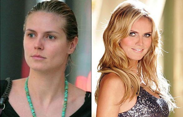 Heidi Klum victorias secret vs angels models without makeup photos