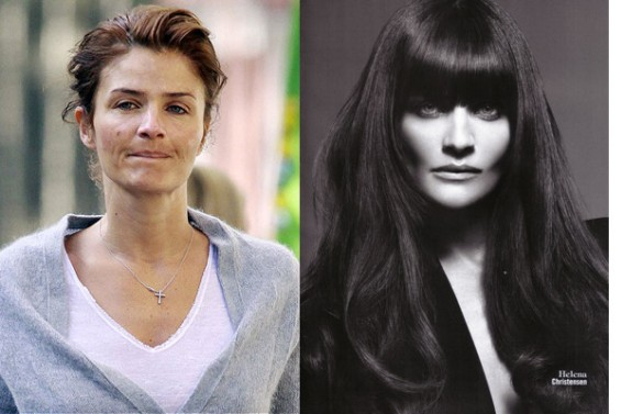 Helena Christensen victorias secret vs angels models without makeup photos
