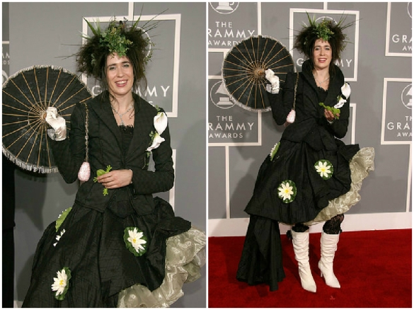 Imogen Heap lily pond lemons outfit at the 49th Grammy Awards