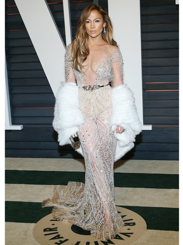 Jennifer Lopez in Zuhair Murad 2015 Oscars academy awards red carpet