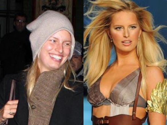 Karolina Kurkova victorias secret vs angels models without makeup photos
