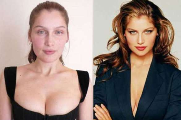 Laetitia Casta victorias secret vs angels models without makeup photos