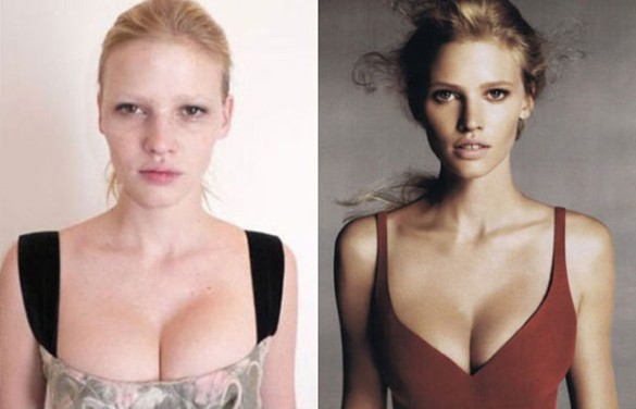 Lara Stone victorias secret vs angels models without makeup photos