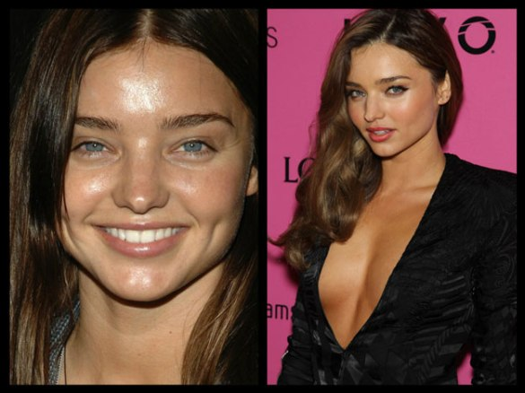 Miranda Kerr victorias secret vs angels models without makeup photos