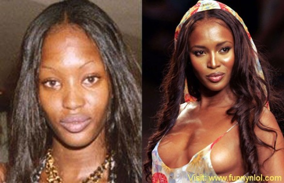 Naomi Campbell victorias secret vs angels models without makeup photos