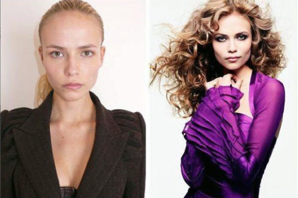Natasha Poly victorias secret vs angels models without makeup photos