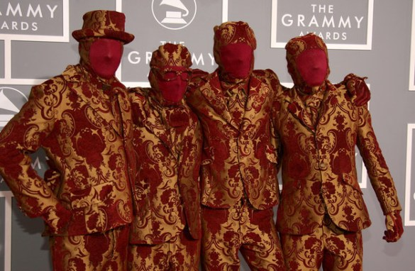 OK GO at the 49th Grammy Awards furniture clothes