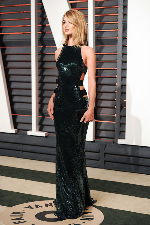 Rosie Huntington-Whiteley in Alexandre Vauthier 2015 Oscars academy awards red carpet