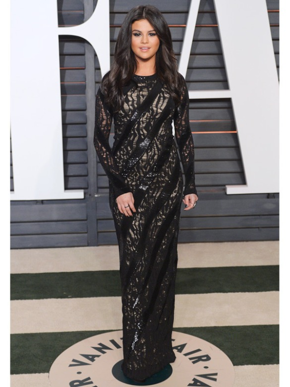 Selena Gomez in Louis Vuitton 2015 Oscars academy awards red carpet