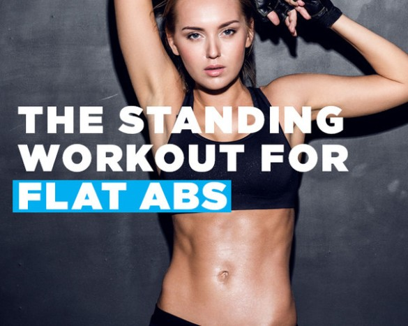 standing workout for super flat abs