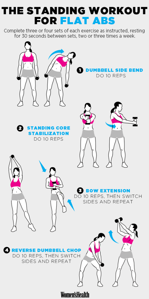 standing workout for flat abs super flat stomach
