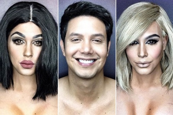 the man transforming himself into celebrities kylie jenner kim kardashian paolo ballesteros